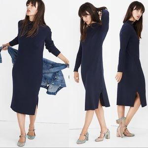 MADEWELL Mockneck Midi Sweater Dress